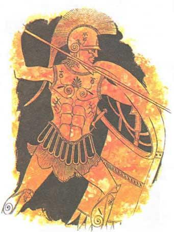 гоплит во фракийском шлеме