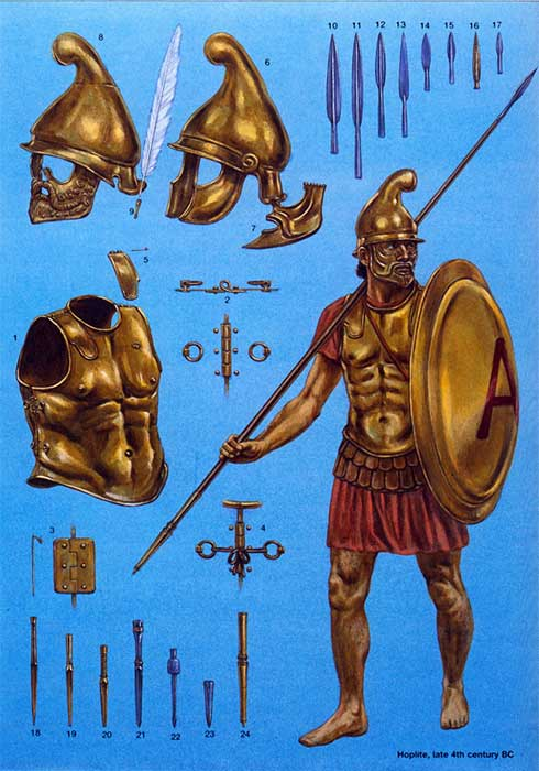 Гоплит 4 в. до н.э.