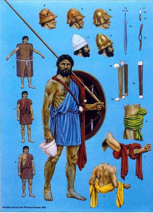 Гоплит на рубеже 5-4 в. до н.э.