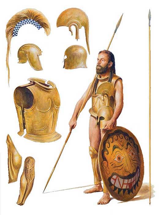 гоплит начала 5 в. до н.э.