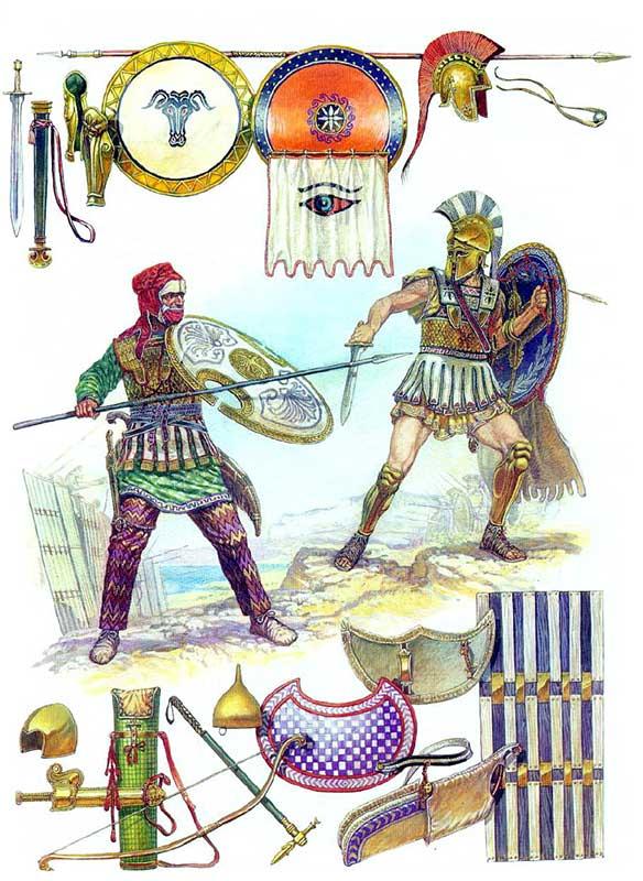 Персидский бессмертный и греческий гоплит