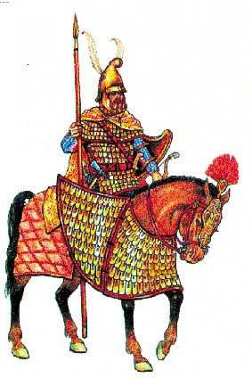 Тяжелый персидский всадник