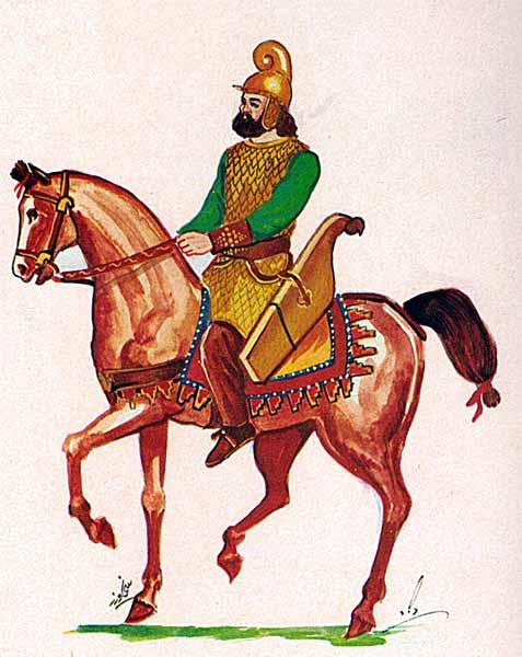 Персидский знатный всадник