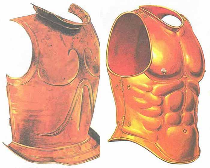 мускульные панцири гоплитов - гелотораксы