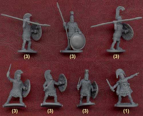 Наборы солдатиков древних греков фирмы Цезарь