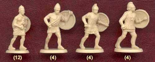 Набор солдатиков для пельтастов Ификрата