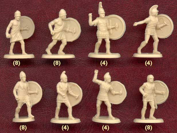 Набор солдатиков древних греков фирмы ХАТ