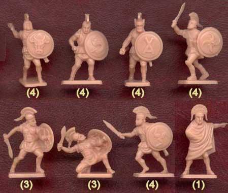 Набор солдатиков древних греков фирмы Звезда