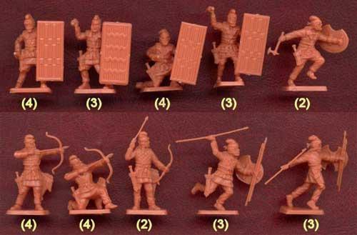 Наборы солдатиков - персидская пехота