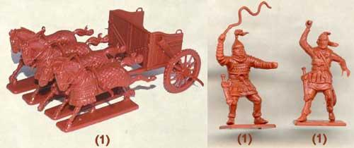 набор солдатиков - серпоносная колесница