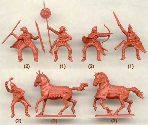 набор солдатиков - персидская конница