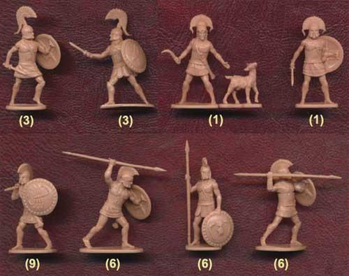 Набор солдатиков спартанцев фирмы Звезда