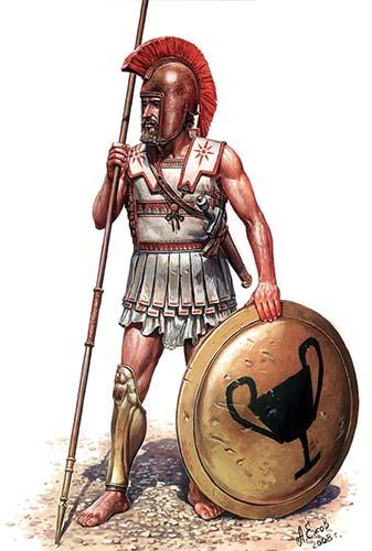 греческий гоплит 5-4 в. до н.э.