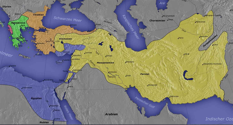 Царства диадохов после битвы при Ипсе