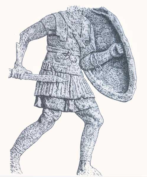 Вооружение легионера 1 в. до н.э.