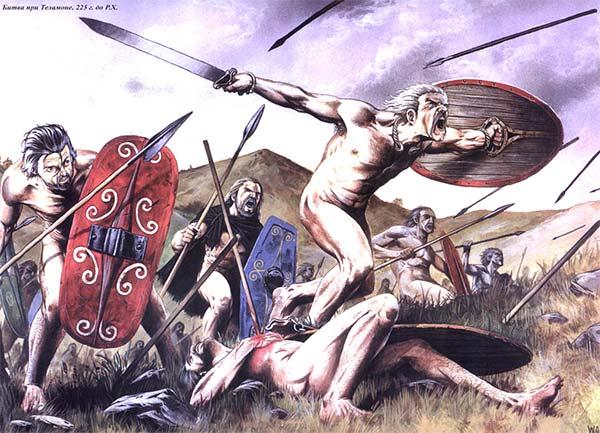 Галлы в битве при Теламоне
