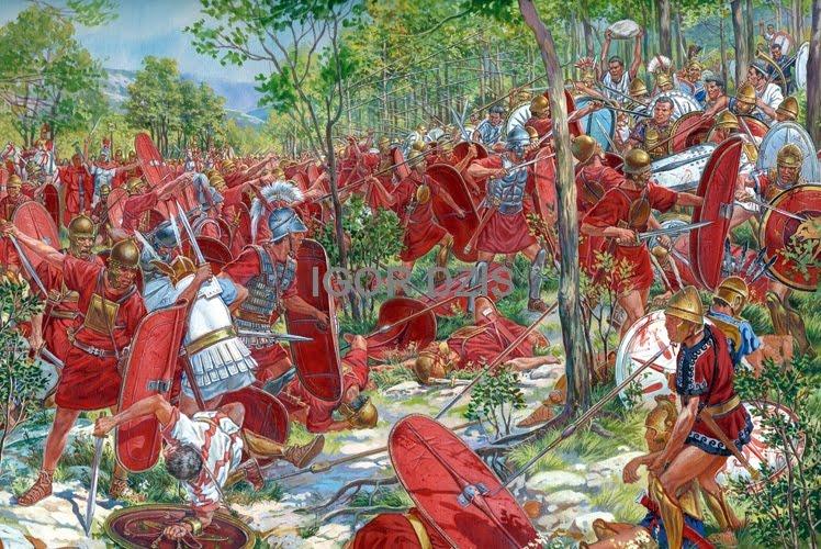 Битва римлян с самнитами