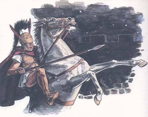Римский всадник в бою