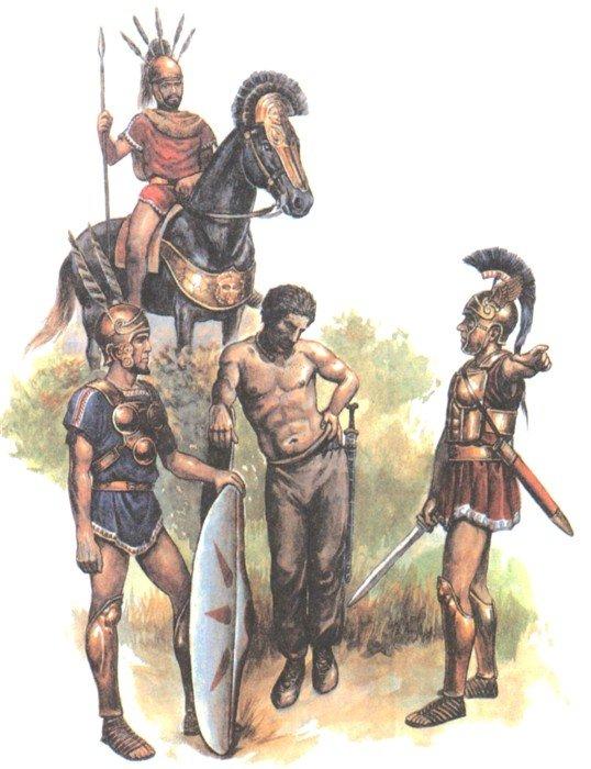 Самниты и галл в битве при Сентине
