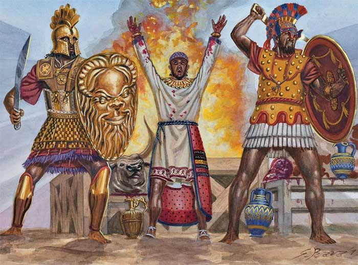 Гамилькар приносит жертвоприношения при Гимере