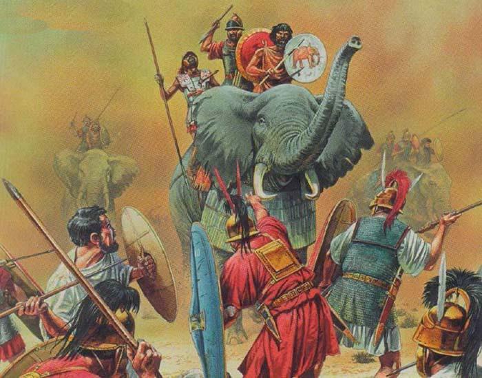 Римляне против слонов Карфагена