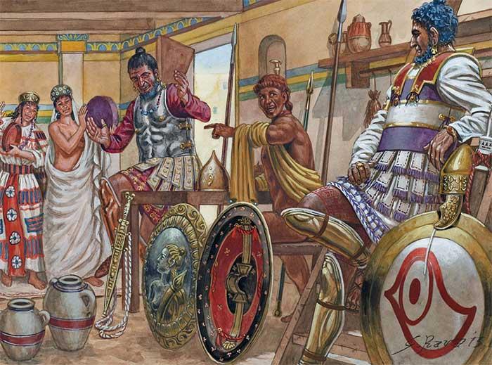 Гоплиты карфагенян и греческий наемник
