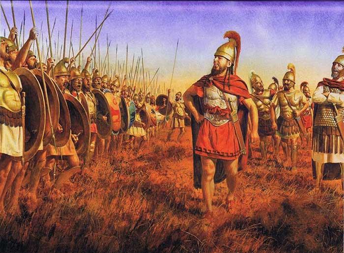 Ксантипп перед битвой при Тунете