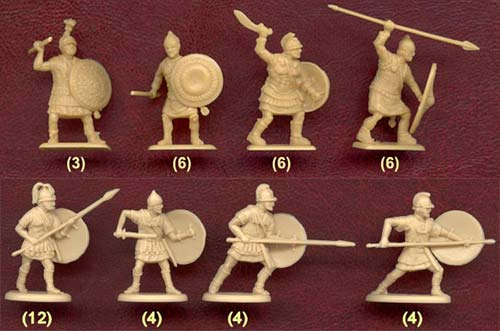 Фигурки солдатиков карфагенян
