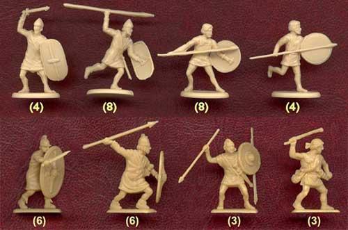 Фигурки легкой пехоты карфагенян