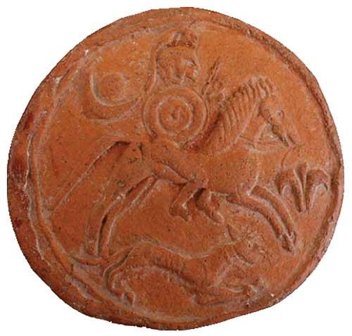 Терракотовый диск с карфагенским всадником