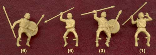 Фигурки солдатиков нумидийцев