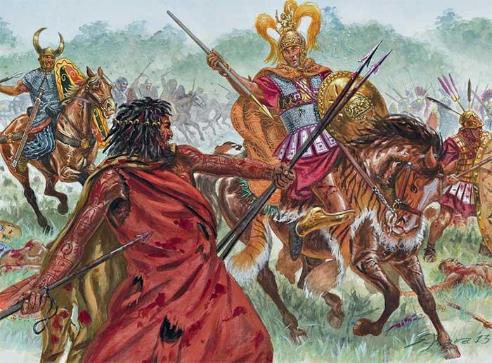 Гай Фламиний в битве при Тразименском озере