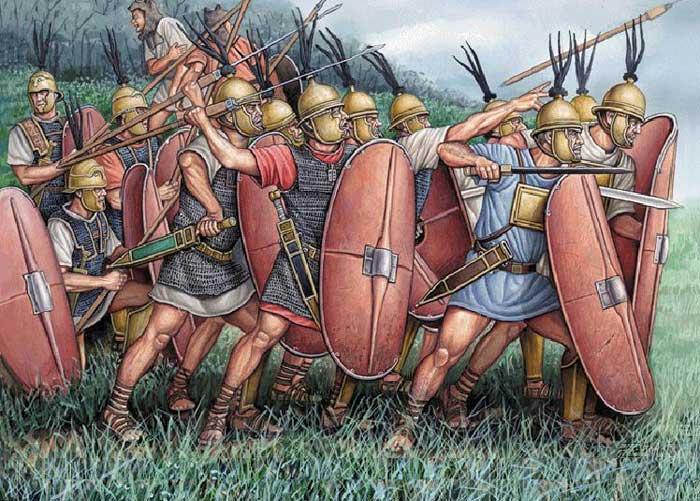 Легионеры в бою