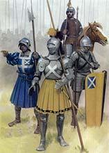 Шотландцы в битве при Флоддене