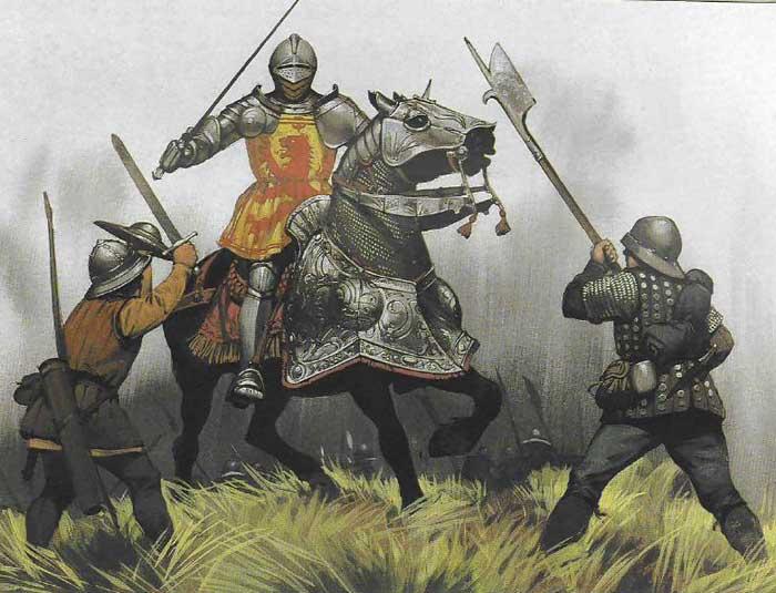 Яков 4, король Шотландии в битве при Флоддене