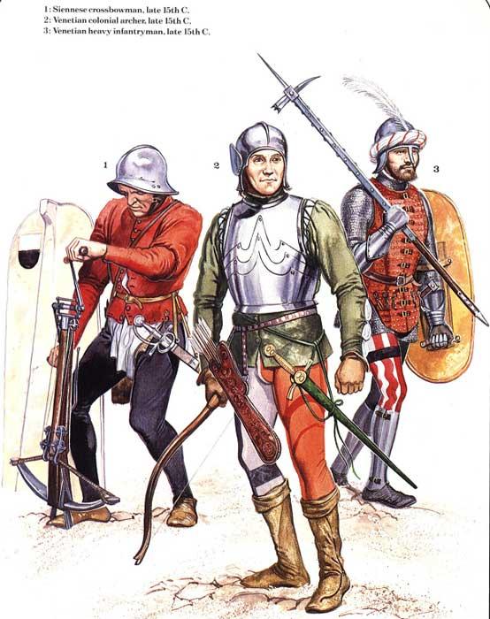 Солдаты начала Итальянских войн