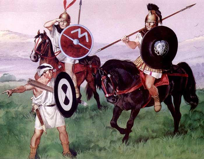 Римские всадники и велит