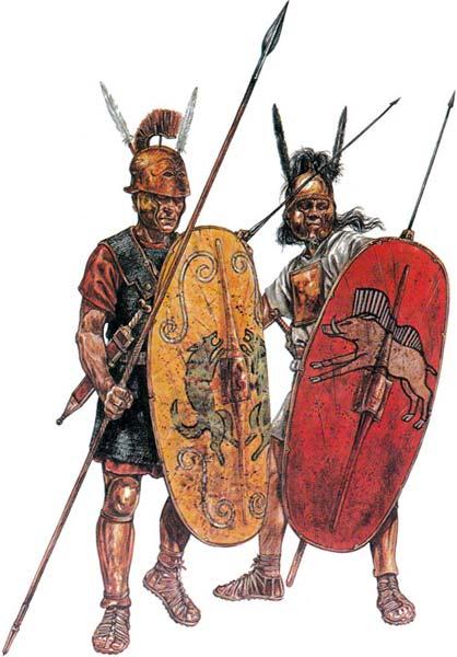 Триарий и гастат (принцип) времен Второй Пунической войны