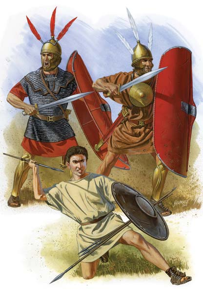 Тяжелая пехота легионов и велит