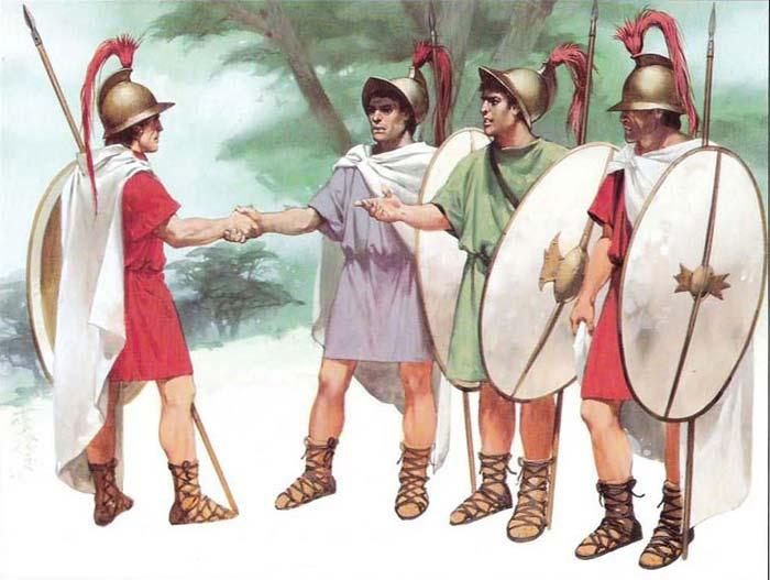 Наемники фиреофоры около 200 г. до н.э.