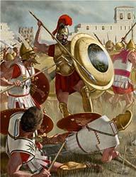 Греческий гоплит против македонских фалангитов