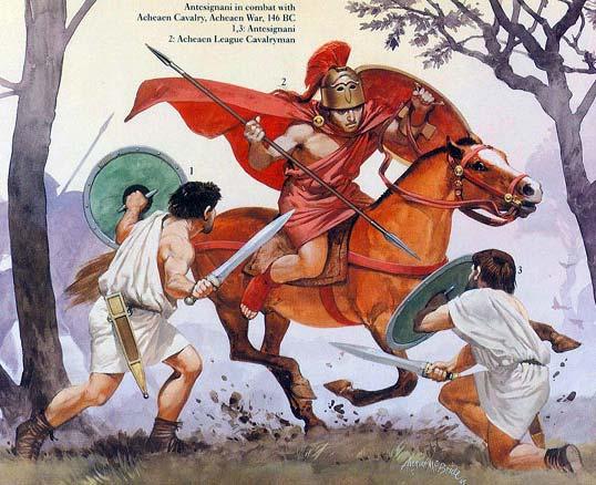 Ахейский всадник против римских велитов