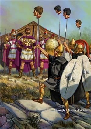 Персей после битвы при Каллинике