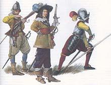 Пехотинцы времен битвы при Рокруа