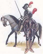 Кирасиры или жандармы времен битвы при Рокруа