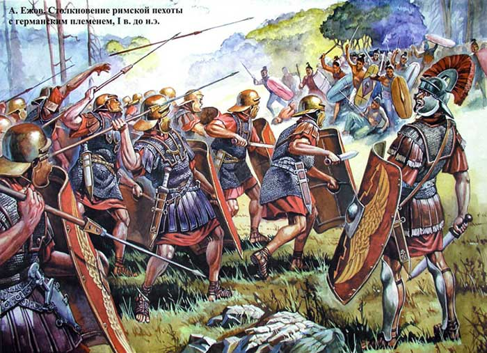 Римляне против германцев