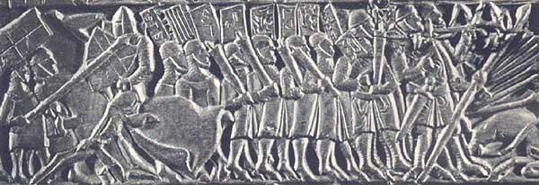 Фламандская пехота с копьями и годендагами
