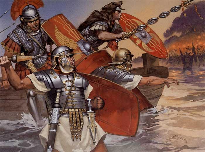 Высадка легионов Паулина на остров Мону