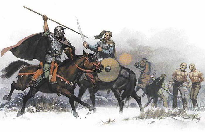 Римский и германский всадники