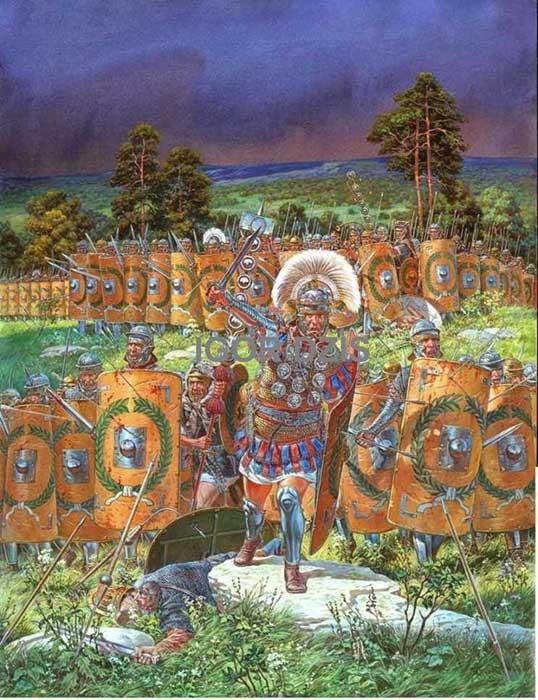 Римская армия ранней империи в бою
